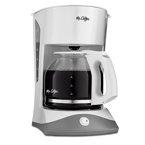 amazon com mr coffee 12 cup manual coffee maker white drip rh amazon com Bloomfield Coffee Maker Manual Hamilton Beach Coffee Maker Manual