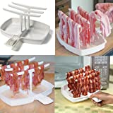 MWGears Microwave Bacon Cooker for Healthier, Crispy Bacon. Hang up to 8 strips of bacon (Style_2)