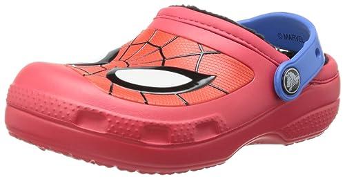 41aa0c85dd0fb crocs CC Spiderman Lined Clog (Toddler Little Kid)
