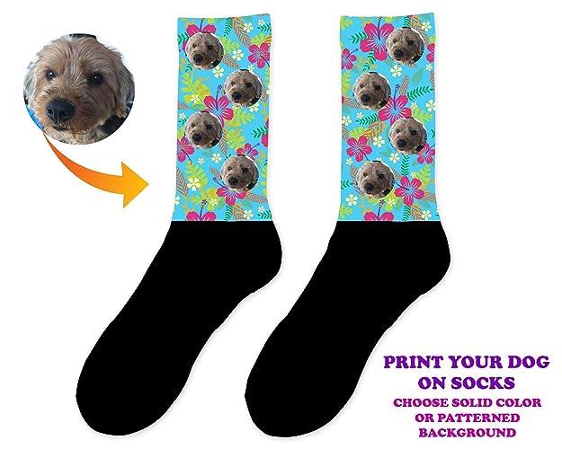 Amazon Custom Dog Photo Socks