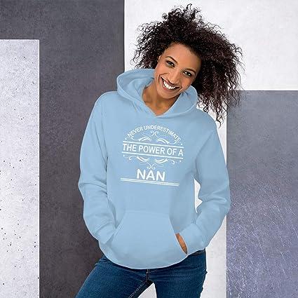 Never Underestimate The Power of NAN Hoodie Black
