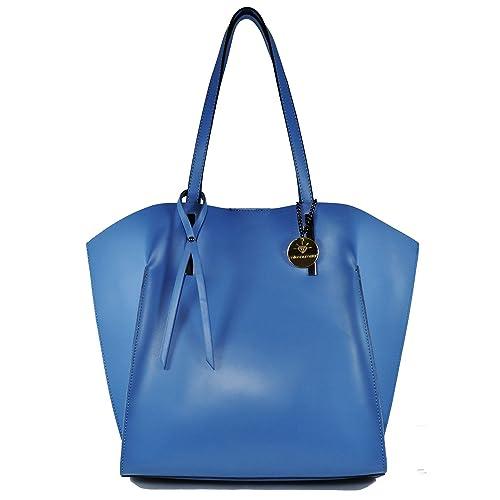 Kate azul bolso de cuero damas pastel hecho en Italia. Un ...