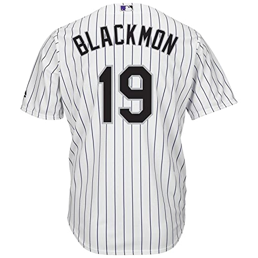 eb0738d6b Outerstuff Charlie Blackmon Colorado Rockies White Youth Cool Base Home  Replica Jersey (Small 8)