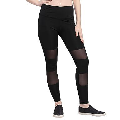 best multiple colors in stock Zanaash Black mesh Yoga Gym Leggings Tights for Women ...