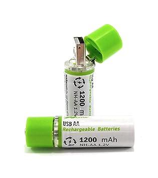 OME® - Pilas recargables mediante USB. Para su carga, es ...