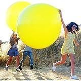 """HuaYang Super Grand Balloon de Latex Solide 36"""" Round Décoration Pour Célébration d'Anniversaire Mariage Soirée Bal(Couleur: Jaune)"""