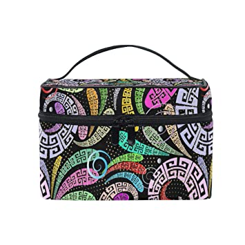 4a32b767ed5d Floral Vortex Scope Pattern Toiletry Bag Multifunction Cosmetic Bag ...