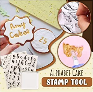 3 PCS Alphabet Cake Stamp Tool, Food Grade Alphabet Letter Fondant Cake Biscuit Mold Set Cookie Stamp Impress For Party 100% BPA Free Reusable and Easy to Clean, Upper lower Case Letter DIY Cookie
