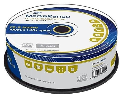 Amazon CD R 100 Min 900 MB MediaRange In Cakebox De 25 Home Audio Theater