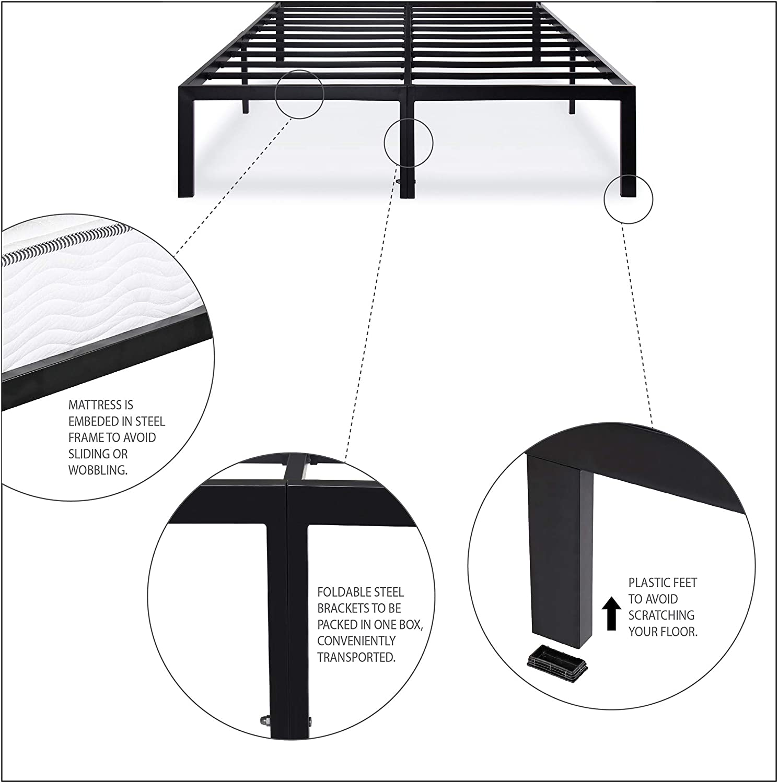 PrimaSleep Platform Bed Frame
