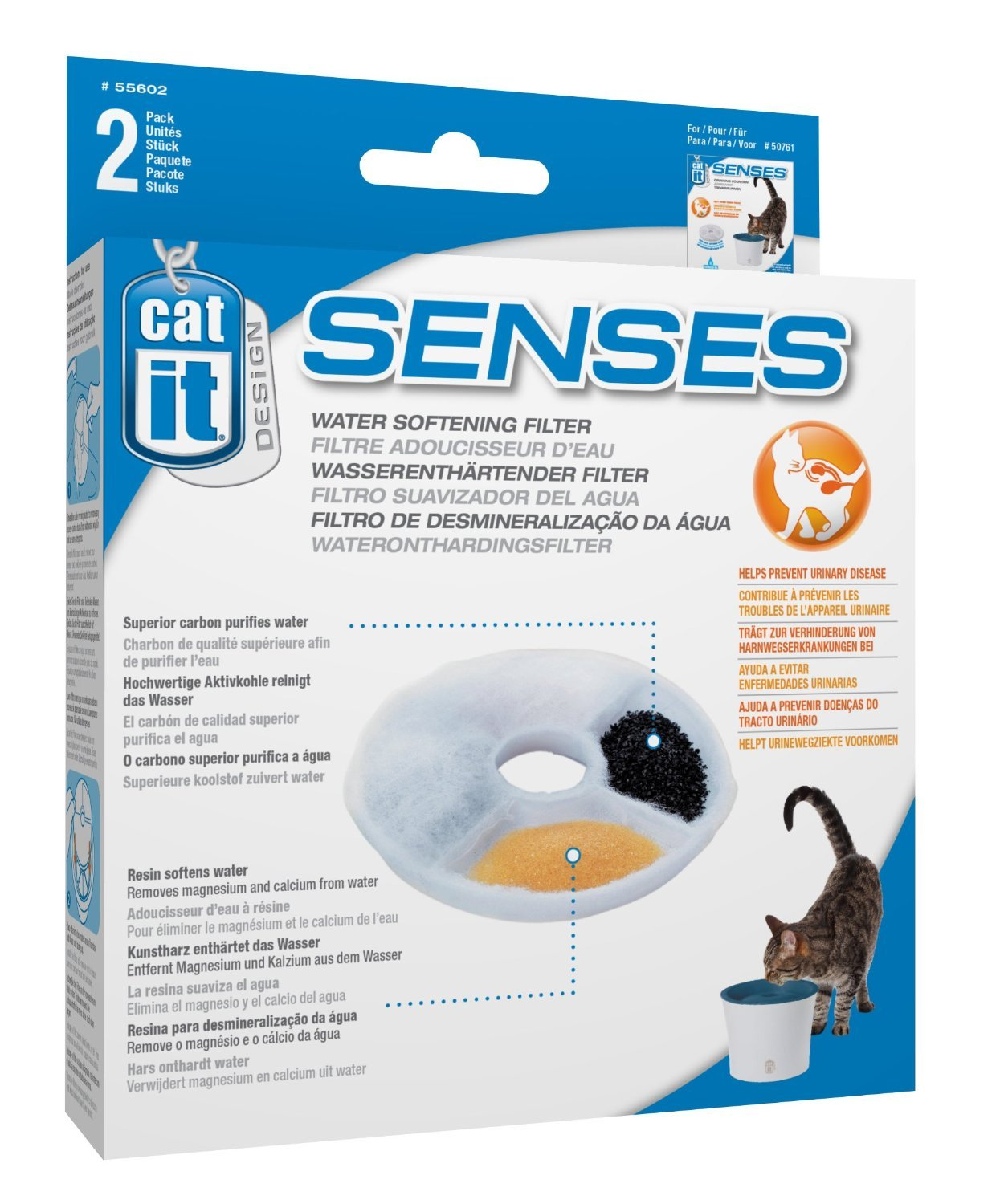 Amazon.com: Catit Design Senses Replacement Water Filtering Cartridge, 2-Pack (12-Pack): Home & Kitchen