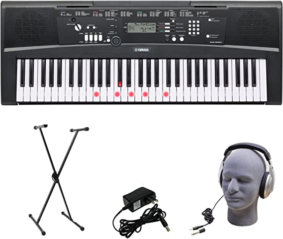 Yamaha EZ-220 61-Lighted Key Portable Keyboard Package with Headphones
