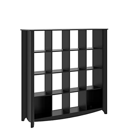 Attrayant Bush Furniture Aero 16 Cube Bookcase/Room Divider In Classic Black