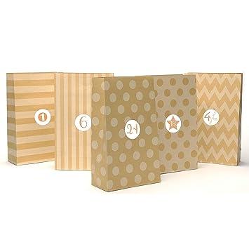 24 Bolsas de papel kraft marrón de alta calidad | Bolsa para regalos con tarjetas y