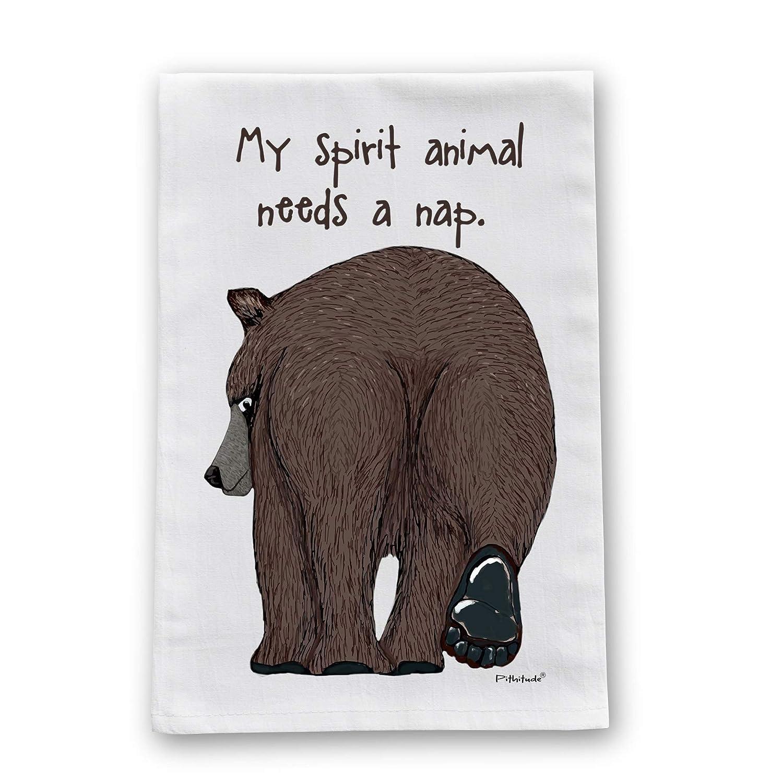 Spirit Bear Flour Sack Cotton Dish Towel by Pithitude