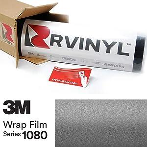 3M 1080 M261 Matte Dark Gray 5ft x 1ft W/Application Card Vinyl Vehicle Car Wrap Film Sheet Roll