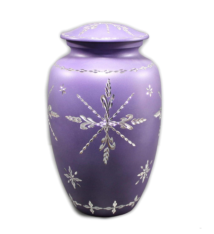 eSplanade Cremation urn Memorial Container Jar Pot | Cremation Urns | Metal Urns | Burial Urns. StonKraft 10