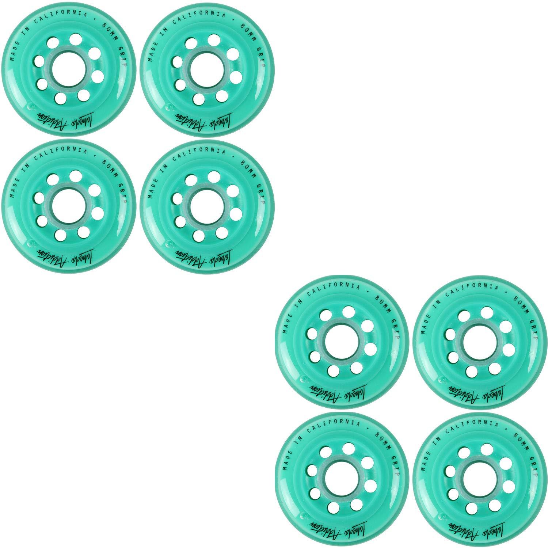 Labeda Inline Roller Hockey Skate Wheels Addiction Teal 80mm Set of 8