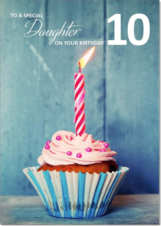 Medium Doodlecards Daughter 10th Birthday Card