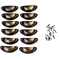 FVCENT Shell handvat lades handgrepen brons kast handgrepen antieke meubels handvat halve cirkel met schroeven voor…