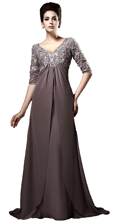 442b3062e8c Snowskite Women s Elegant Empire Waist Half Sleeves Mother of the Bride  Dress at Amazon Women s Clothing store
