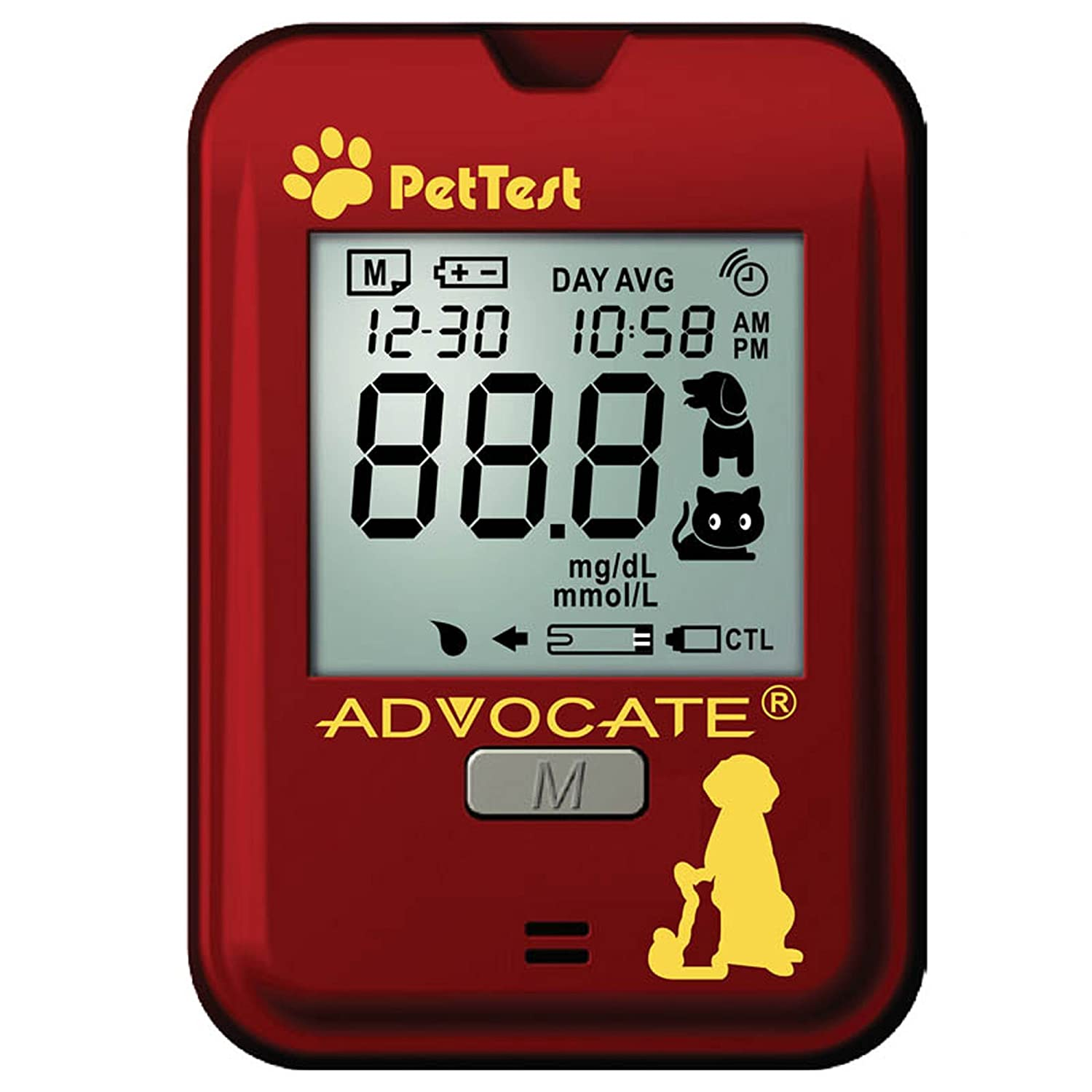 Advocate Pet Test Blood Glucose Monitoring System for Dogs Cats PT-100