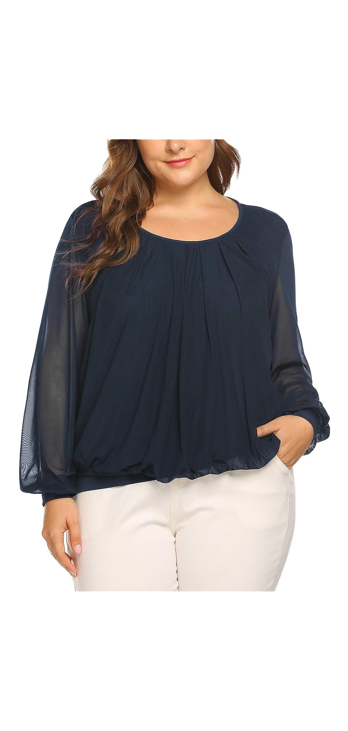 Women's Plus Size Blouses Short/long Sleeve Tunic Tops