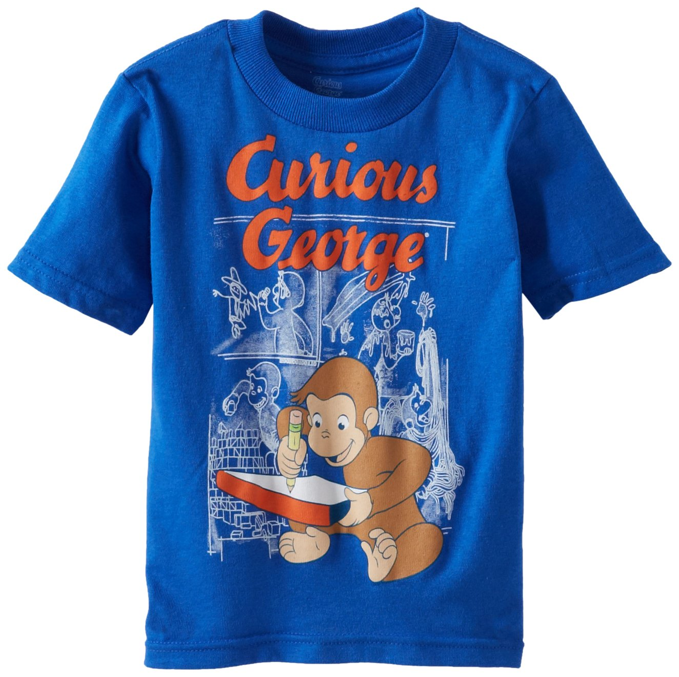 Curious George Boys' Graphic Short Sleeve Tee Freeze Children' s Apparel JRSB206-02T