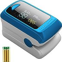 Monitor de saturación de oxígeno,pulsioxímetro de frecuencia cardíaca,monitor de oxígeno en sangre de dedo Sp02,Oxímetro…