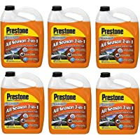 $47 » Prestone AS658-6PK Deluxe 3-in-1 Windshield Washer Fluid, 1 Gallon (Pack of 6)