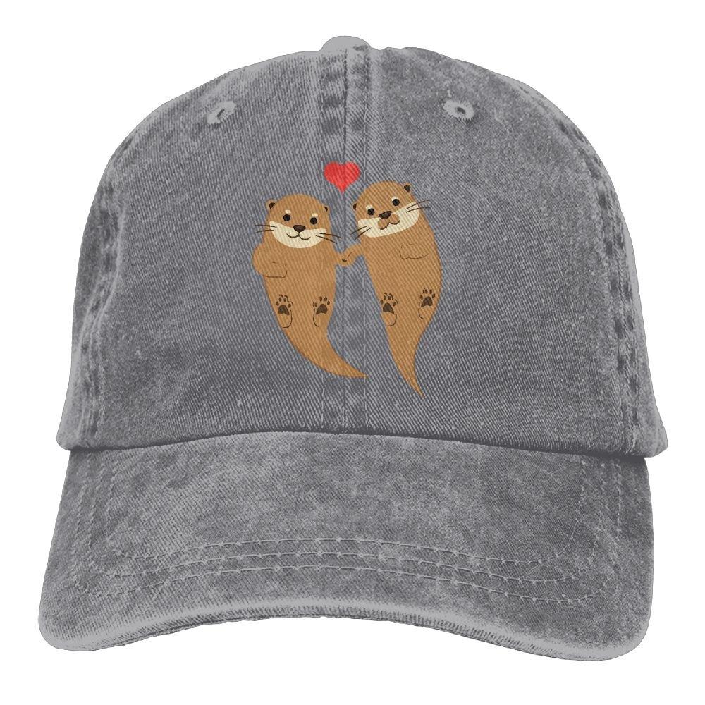 Amazon.com  Men Women Sea Otter Love Adjustable Jeans Baseball Cap Sun Hat   Clothing b06b71fda8f