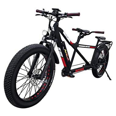 Addmotor MOTAN Adults Electric Bicycles for Women Men 750W 26 Inch Fat Tire Tandem Bikes 48V 14.5Ah Lithium Battery M-250 Two-Seater Electric Bikes
