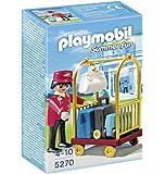 Playmobil - Portero con carro de equipaje, set de juego (5270)