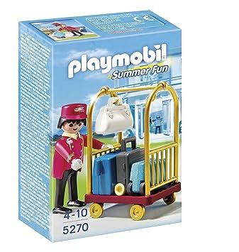 Playmobil - Portero con carro de equipaje, set de juego (5270): Amazon.es: Juguetes y juegos