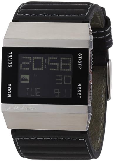 Quiksilver M141DL/BLK - Reloj de caballero de cuarzo, correa de piel color negro: Amazon.es: Relojes