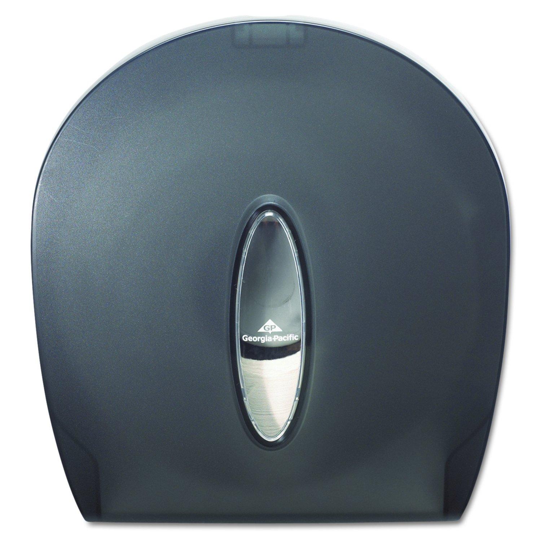 Georgia-Pacific GP 59009 Translucent Smoke Jumbo Jr. Bathroom Tissue Dispenser, 10.61'' Width x 11.29'' Height x 5.39'' Depth