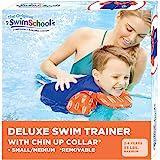 SwimSchool Swim Trainer Vest with UPF50 Shoulder Sleeves, Stretchable Fabric, Flex-Form Design, Adjustable Safety Strap…