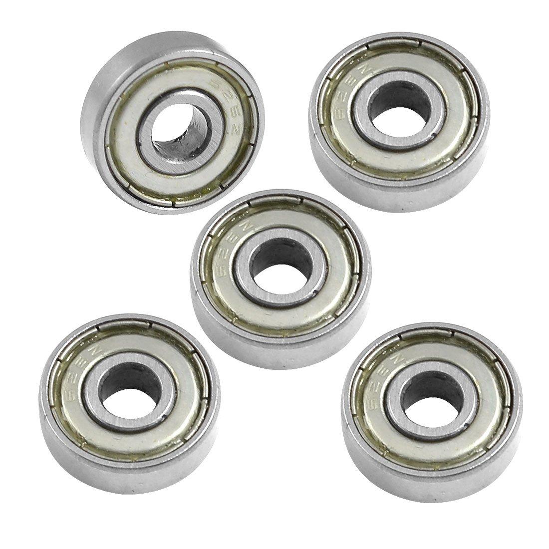 Sourcingmap A12060400UX0114 - Pack de 5 rodamientos de bolas (epó xido moldeado, 6 mm)