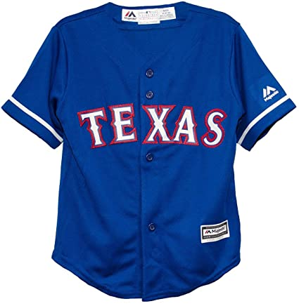 pretty nice 8b8c3 2da05 Majestic Texas Rangers Alternate Blue Cool Base Toddler Jersey