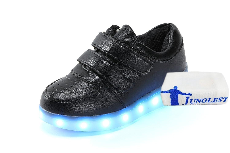 (+Petite serviette)Chaussures USB de recharge pour enfants émettant garçons lumière chaussures chaussures filles lumineuses chaussures de s