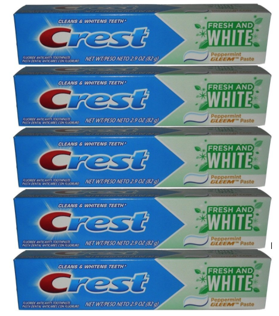 Amazon.com: Crest Fresh and White Toothpaste 2.9oz (Formerly Gleem) - 5 Pack: Health & Personal Care