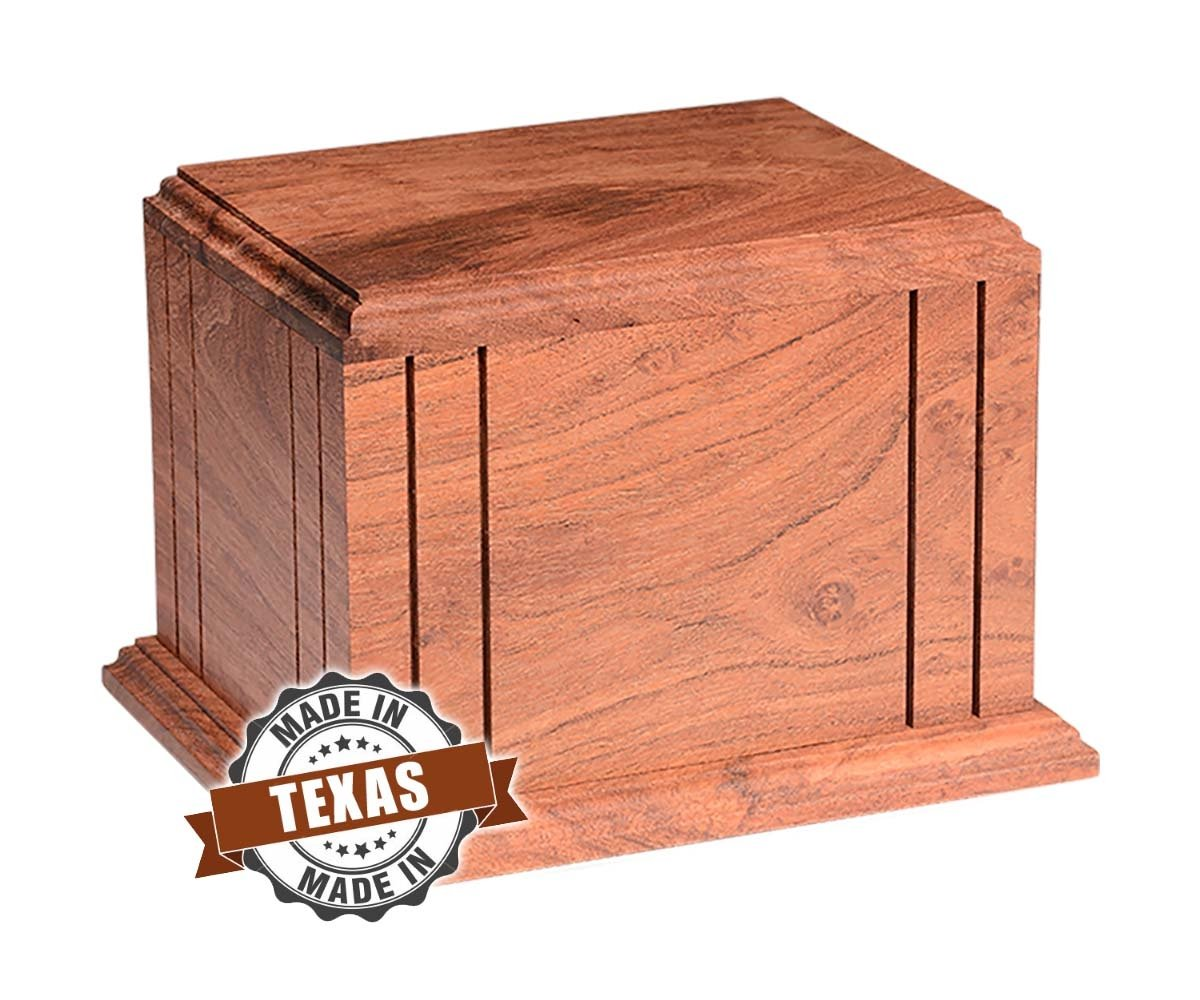 Hand Made Texas Mesquite Wood Cremation Urn
