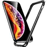 ESR iPhone Xs Max ケース バンパー 6.5インチ [アルミ+シリコン 二重構造] 衝撃吸収 薄型 軽量 ストラップホール付き 電波に影響無し 耐衝撃バンパーケース (ダックグレー)