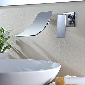 Kinse® moderna unico rubinetto a muro a scomparsa cascata ...