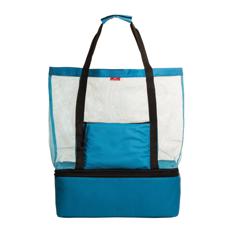 Amazon.com | MALIBU Beach Bag - 2 in 1 Mesh Beach Tote Bag with ...