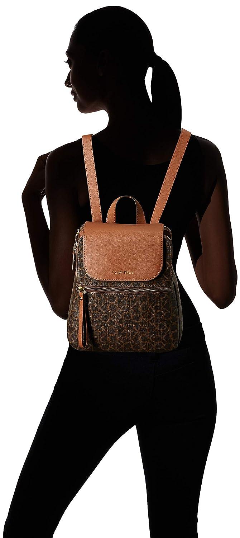 df6783995fa Amazon.com: Calvin Klein Elaine Signature Key Item Flap Backpack, brown  khk/luggage: Clothing