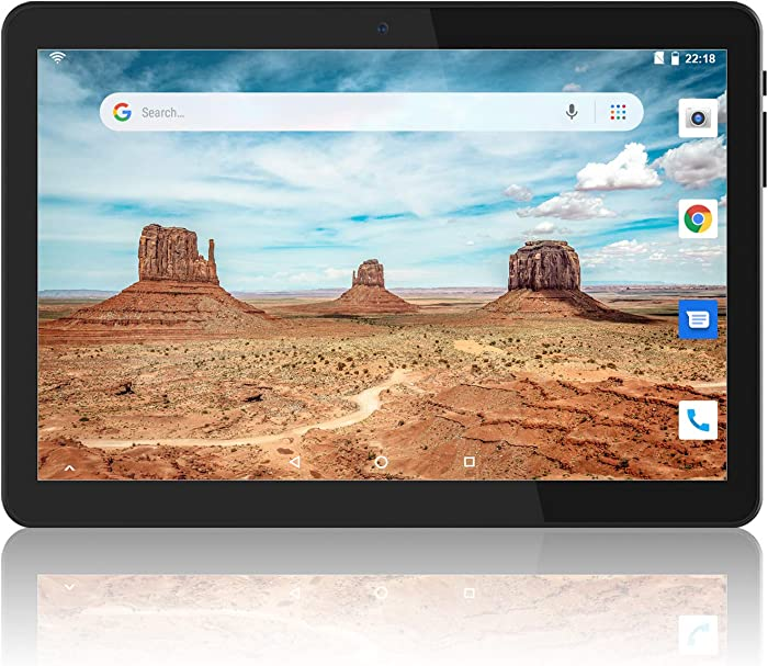 Tablet 10 inch, Android 8.1 Tablet PC, 16GB, 5G WiFi and Dual Camera, GPS, Bluetooth, 1280x800 IPS Display, Google Certified Tablets - Black