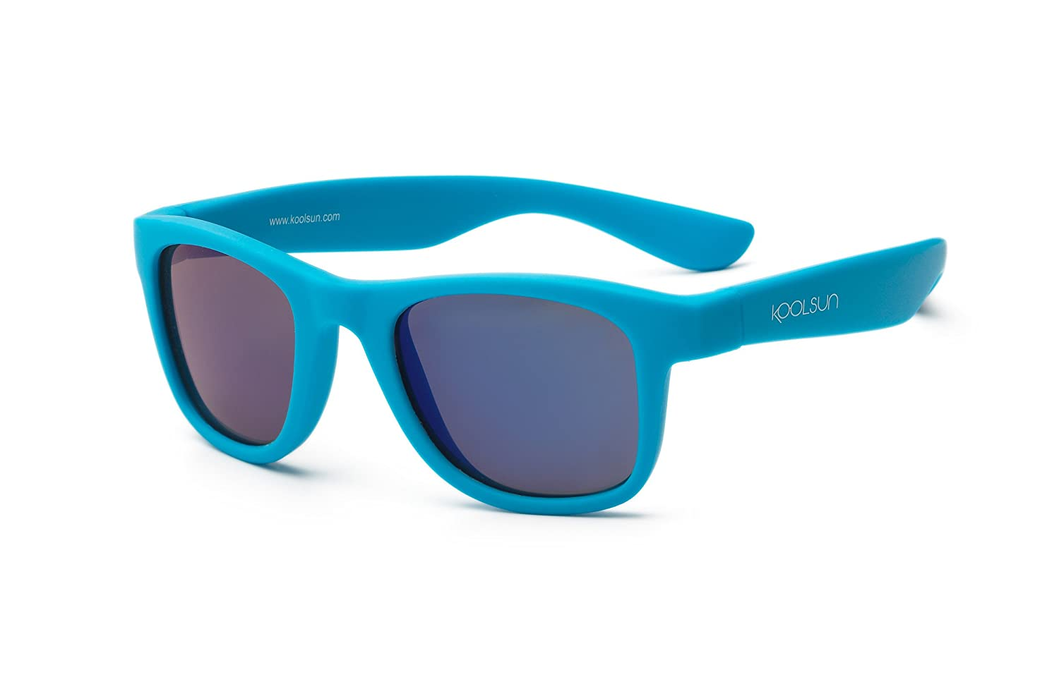 Koolsun Baby and Child Sun Wave Fashion 1+ Neon blue mirrored 100% UV Protection | Optical 1, Category 3