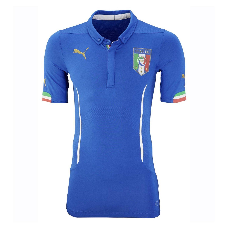 Puma Italy Home Jersey World Cup 2014 Blue/サッカーユニフォーム イタリア代表 ホーム用 ワールドカップ2014 背番号なし B00J85PQSE Medium