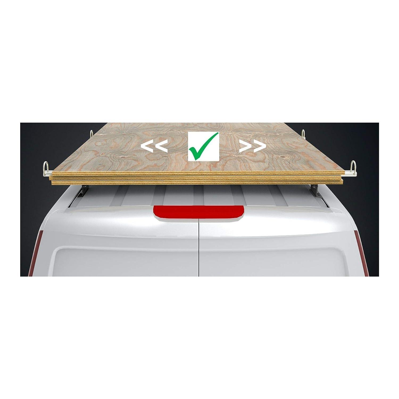08-2018 Mk2 3 Barre con Rullo. Autorack WorkReady Barre Portapacchi per Furgone Peugeot Partner